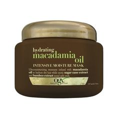 (Ogx) Organix Hydrating Macadamia Oil Intense Moist Mask Jar Pack): Bathes Dry, Brittle Hair With A Fusion Of Gentle Conditioning Oils Infused With Macadamia Oil, Sugar Cane & Bamboo Extract Leaves Hair Soft, Supple And Touchable Mends Split Ends Diy Hair Mask, Hair Masks, Dry Hair Treatment, Scalp Treatments, Curly Hair Styles, Natural Hair Styles, Macadamia Oil, Hydrating Mask, Brittle Hair