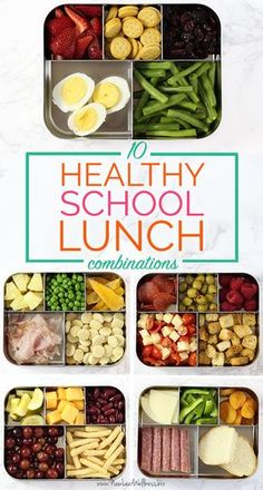 Change things up for the kids this year with these 10 healthy school lunch combinations! Change things up for the kids this year with these 10 healthy school lunch combinations! Healthy Lunches For Kids, Lunch Snacks, Clean Eating Snacks, Healthy Drinks, Lunch Recipes, Kids Meals, Healthy Eating, Healthy Recipes, Healthy Meals