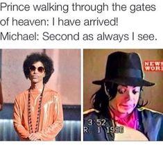 Lmaooooo those MJ and Prince memes
