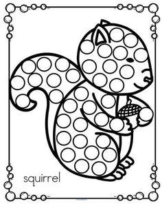Fall Preschool Activities, Free Preschool, Preschool Classroom, Preschool Crafts, Squirrel Art, Do A Dot, Autumn Theme, Dots, Bowling Ball