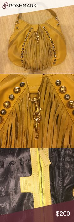 Reproduced Gucci Mustard Leather & Suede Fringe Gucci Mustard Leather & Suede Fringe Babouska Hobo Bag. Not an original but EXTREMELY convincing. You would not be able to tell it apart from an original. Features studs throughout and an optional removable shoulder strap. Perfect condition. Bags Hobos