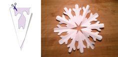 Jak zrobić śnieżynki z papieru – szablony (DIY)   Mamotoja.pl Techno, Snowflakes, Origami, Triangle, Christmas, Decor, Logo, Paper, Xmas