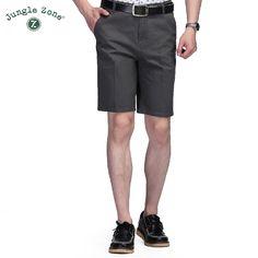 JUNGLE ZONE Shorts Men's Casual Mens Shorts 100% cotton Bermuda Beach Shorts Joggers Trousers Knee Length Shorts D10 #Affiliate