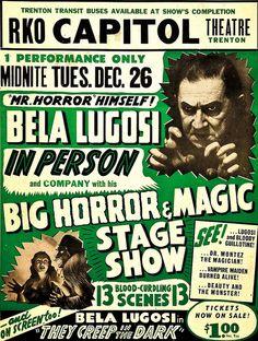 Bela Lugosi on stage