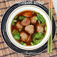 Comfort food in a Bowl! The mushrooms add a lot of flavor to this tasty soup with the meatballs providing that meaty bite that makes this gluten-free dish hearty! Great as appetizer or on its own!