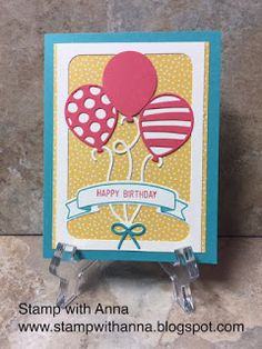 Stamp with Anna: Pop Up Balloons Birthday Card that Doesn't Pop!