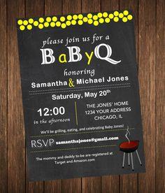 Baby Shower Invitation - BabyQ / Baby-Q, Babyque Invite Boy or Girl, Customized Printable Digital File on Etsy, $7.99 AUD
