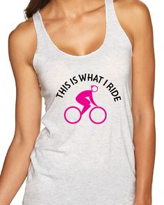 A personal favorite from my Etsy shop https://www.etsy.com/listing/279703480/bicycle-racerback-tank-bicycle-triblend