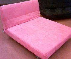 Bright Pink Futon Folds Two Diffe Ways