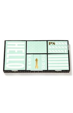 kate spade new york 'deco dots' sticky note set available at #Nordstrom