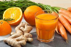 Desintoxicante zumo de zanahoria y jengibre PERFECTO para adelgazar (RECETA)   ¿Qué Más?