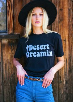 DESERT DREAMIN Tee- womens tshirt- graphic tee-desert- southwestern- cactus-  vintage vintage tee- made in usa- cotton a7cbc81e7d8e