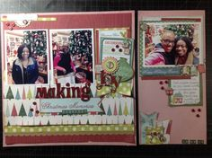 Making Christmas Memories - 12 x 12 and a 6 x 12 layout.