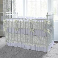 Orchid Blossoms Baby Crib Bedding by Carousel Designs.