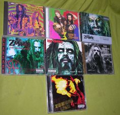 ROB ZOMBIE WHITE ZOMBIE CD LOT HILLBILLY DELUXE DELUXE LIVE SYNTHETIC DELUSION