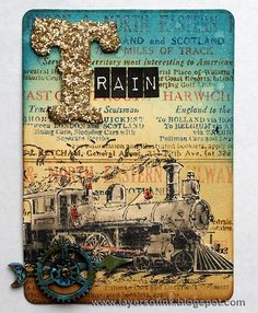 Distress Travel ATCs - Layers of ink