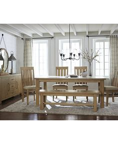 Abilene 7 Pc. Dining Set (Table U0026 6 Side Chairs) | Macys