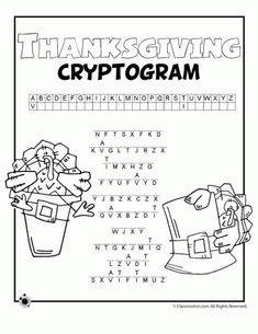 Thanksgiving Word Puzzles | Woo! Jr. Kids Activities
