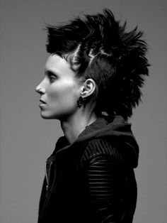 Sometimes I wish I had a dramatic story/ badass-ness that I could pull of this look.....but I don't....so my fauxhawk shall never be