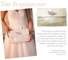 vintage clutch bridal style inspiration #wedding #accessories Follow Bride's Book for more great inspiration.