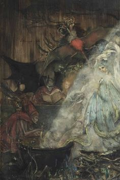 Lizzy Ansingh, The Witches' Sabbath (detail) 1916.