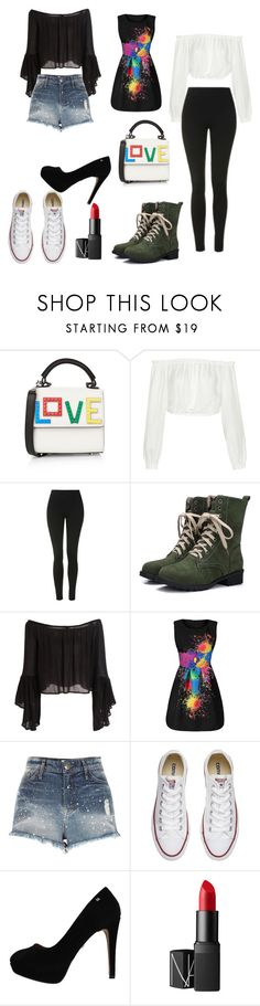 """Untitled #102"" by melomana779 ❤ liked on Polyvore featuring Les Petits Joueurs, Elizabeth and James, Topshop, River Island, Converse and NARS Cosmetics"