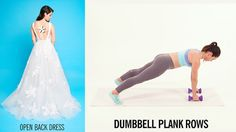 6 Exercises for Wedding Dress Target Areas: Whether you're wearing a strapless, slinky, or high slit dress on the big day, here are the only exercises you'll need for your wedding day target areas.