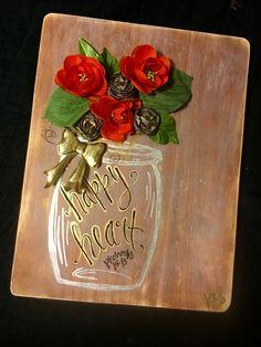 Distressed wood art with bible verse #happyheart #kaitydidcreations