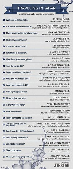 Infographic: essential Japanese phrases for traveling part 3