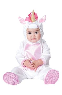 InCharacter Costumes 'Magical Unicorn' Footie & Hat (Baby Girls) available at #Nordstrom