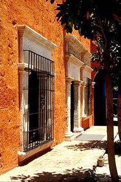 Beautiful typical architecture in Arequipa, Peru