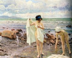 The Bathers, ca 1916 by Paul Gustave Fischer