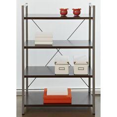 Found it at www.dcgstores.com - ♥ ♥ 4-Shelf Bookcase - Metal Frame, Espresso ♥ ♥