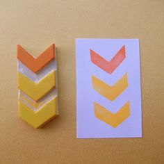 Big Chevron - Hand Carved Stamp