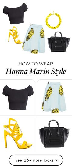 """Hanna Marin (PLL)"" by martinodegaardfan on Polyvore featuring H&M, MSGM, Penny Loves Kenny and Slate & Willow"