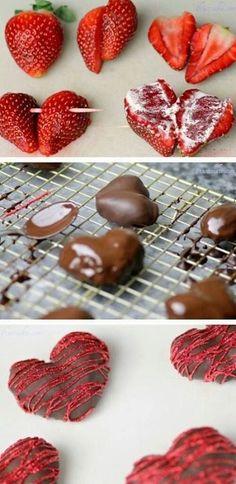 Los chocolates y los corazones son lo mas tipico para una cena romántica de San Valentín. No te pierdas la receta!