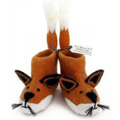 Finlay Fox Adult Slippers | Adult Felt Slippers | Sew Heart Felt | Sew Heart Felt