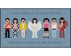 Freddie Mercury Queen Pixel People- Cross Stitch PDF Pattern Instant Download