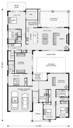 House Layout Plans, Craftsman House Plans, House Layouts, Best House Plans, Dream House Plans, House Floor Plans, Home Design Floor Plans, Bedroom Floor Plans, Single Storey House Plans