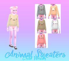 Sims 4 Cas, Sims Cc, Sims 4 Children, Skyrim Mods, Animal Sweater, Sims 4 Clothing, Sims Mods, Disney Princess, Disney Characters