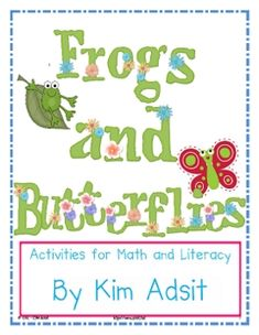 With Spring comes change. Tadpoles and Caterpillars become Frogs and Butterflies. This packet contains over 90 pages of frog and caterpillar games ...