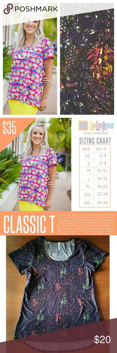 {JUST IN} Leggings•Material•Classic Great condition! No holes, rips or stains. Pics 3-4 are of actual shirt you are purchasing. Refer to Pic 2 for sizing information. LuLaRoe Tops