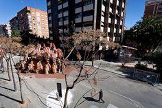 Corrugated Cardboard Pavilion by Miguel Arraiz García & David Moreno Terrón, Valencia   Spain exhibit design