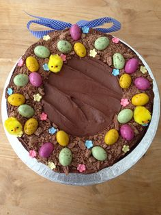 Easter wreath cake - chocolate and olive oil cake heaven!