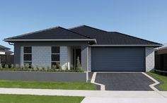 GJ Gardner Homes showhomes available to view now. See the great range of house designs we have available. Exterior Paint Colors, Paint Colours, Exterior Design, Contemporary House Plans, Modern House Plans, Kerb Appeal, Building A New Home, House Exteriors, Black House