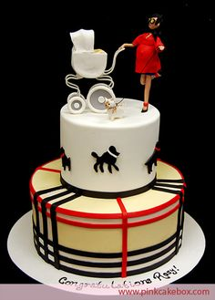 Baby Carriage Shower Cake for fashionable mummies