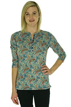 Lauren Ralph Lauren Printed Henley Shirt ** Be sure to check out this awesome item.