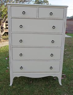SHABBY CHIC/FRENCH PROVINCIAL/COTTAGE DRESSER COTTAGE WHITE   6 DRAWERS