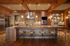 Kitchen Style Rustic Design in British Columbia, Canada
