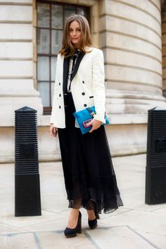 Olivia Palermo in a menswear-inspired look